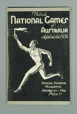 Programme, 1936 National Games of Australia