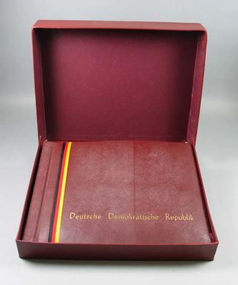Photo album depicting highlights from German Democratic Republic Gymnastics and Sports Festival, 1956
