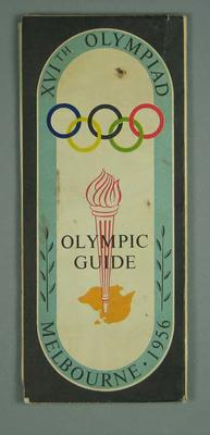 Map of Melbourne, 1956 Olympic Games; Documents and books; 1997.3331.6