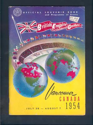 Programme, British Empire and Commonwealth Games - 1954