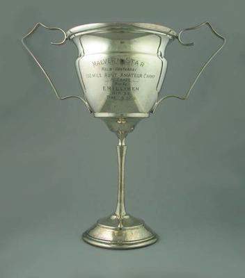 Trophy - Malvern Star Melbourne-Wonthaggi, 100 Mile, Amateur Champion A Grade won by E. Milliken October 1933