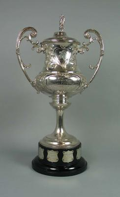 Trophy presented on 15/9/1911 to Clarence Weber, Australasian Wrestling Champion