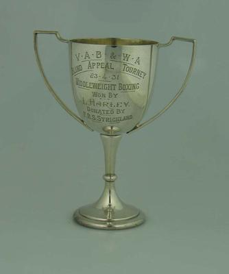 Trophy, VAB & WA Blind Appeal Tourney Middleweight Boxing - 23 April 1931