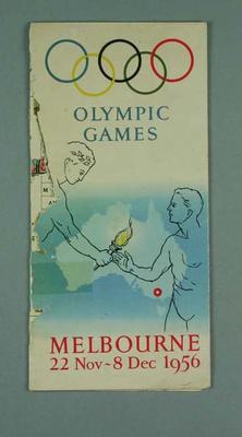 Map - 1956 Olympic Games venues and Olympic Village; Documents and books; 1993.2851.2