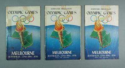 Three (3) 1956 Olympic Games Programmes