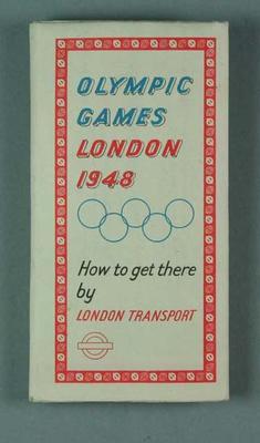 Map of London Metropolitan Rail Network, 1948 Olympic Games