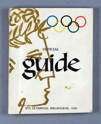 Book - Official Guide XVI Olympiad, Melbourne 1956; Documents and books; 2000.3670.2.1
