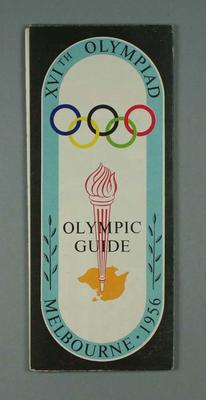 Map - 'XVIth Olympiad, Melbourne 1956' - map of Melbourne and suburbs