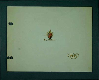 Invitation to Olympic Civic Ball hosted by the Mayor of Melbourne, 23 November 1956
