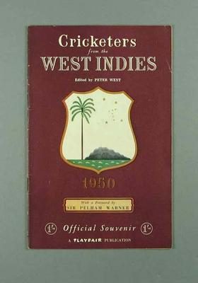 """Booklet, """"Cricketers from the West Indies 1950"""""""