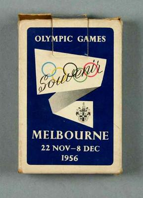 Boxed deck of playing cards - souvenir 1956 Melbourne Olympic Games