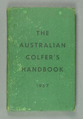 """Book, """"The Australian Golfer's Handbook 1957"""""""