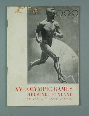 Progress report, 1952 Olympic Games
