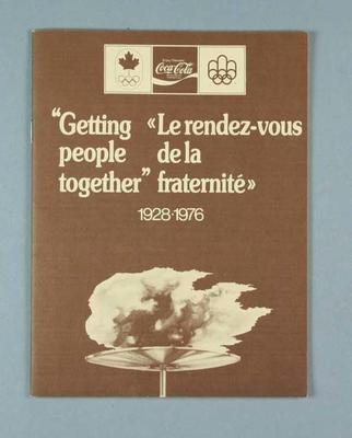 """Booklet, """"Coca-Cola - Getting People Together 1928-76"""""""