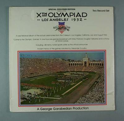 Vinyl record, 1932 Olympic Games recordings