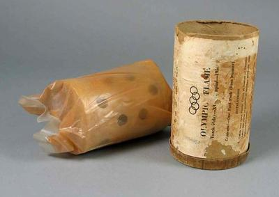 Fuel pack & canister, 1956 Olympic Games torch relay