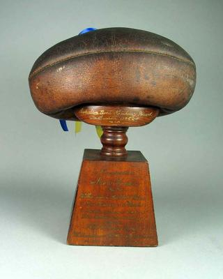 Trophy won by Ron Todd for Australian Goal Kicking Record, season 1945