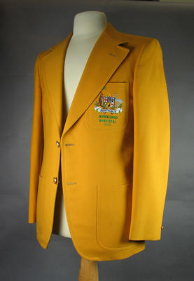 Blazer - 1976 Montreal Olympic Games worn by television presenter Bill Collins.
