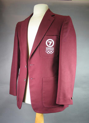 Blazer - 1980 Moscow Olympic Games worn by television presenter Bill Collins, Channel 7 logo