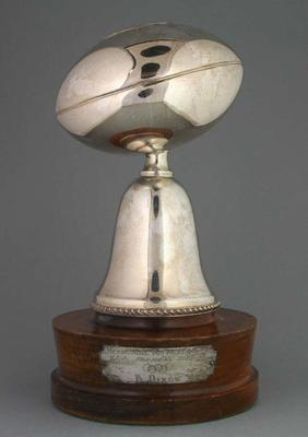 Silver mounted football trophy - Season 1956, Premiers 1955 -  Brian Dixon
