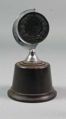 Trophy awarded to Brian Dixon, G.I.E.M.C.C. C Grade - 1951-52; Trophies and awards; 1998.3358.1