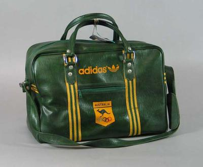 Travel bag used by Australian media commentator Bill Collins 1980 Moscow Olympics
