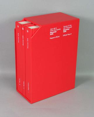 Official Report of the 1976 Montreal Olympic Games - 3 volumes in slip case; Documents and books; 2006.4947