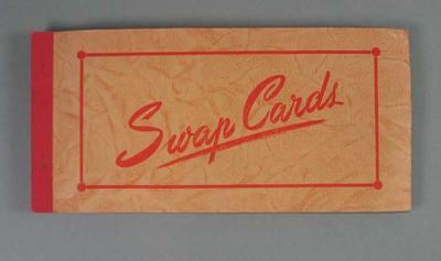 Album, contains Coles Australian Football trade cards c1954