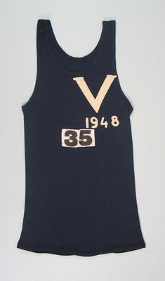 Athletic singlet, worn by Alan Reid c1948