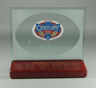 AFL Team of the Century award, presented to umpire Jack Elder in 1996