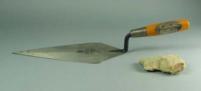 Mortar Trowel and mudstone sample - Foundation Stone Laying Ceremony, 23 October 1985 - Australian Gallery of Sport