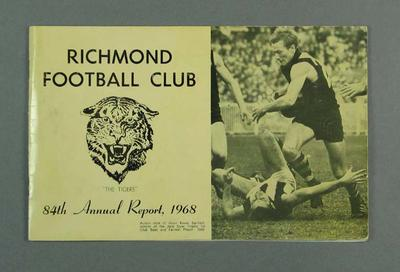 Richmond Football Club annual report, season 1968