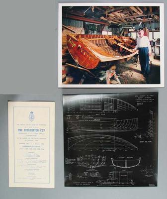 Items relating to 12ft cadet dinghy 'Margo' and the Stonehaven Cup 1958, 1960-61 & 1963