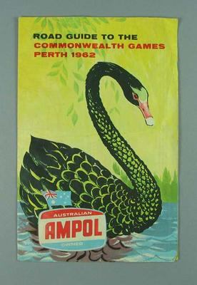 Map, Road Guide to the Commonwealth Games - Perth 1962