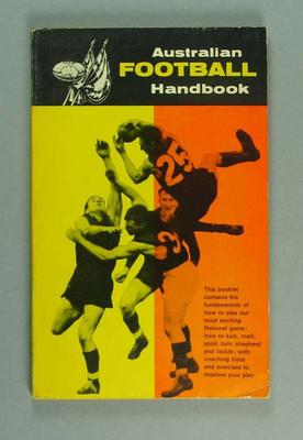 "Booklet, ""Australian Football Handbook"" c1960s"