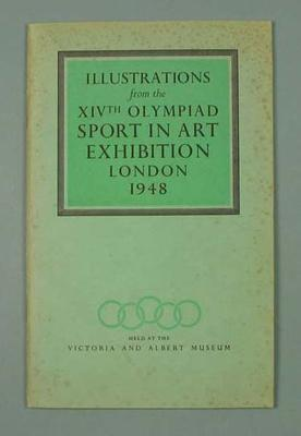 Booklet - Illustrations from the XIVth Olympiad Sport in Art Exhibition, London 1948