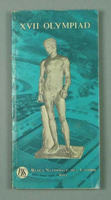 Booklet - Olympic Guide Book - XVII OLYMPIAD - Rome 1960