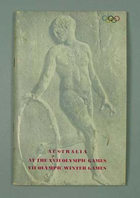 Report - Australian at the XVII Olympic Games & VII Olympic Winter Games 1960