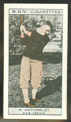 1933 Godfrey Phillips (BDV) Who's Who In Australian Sport H Hattersley & Phar Lap trade card