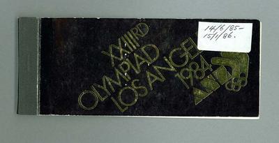 Chequebook - XXIIIrd/OLYMPIAD/LOS ANGELES 1984 - ANZ sponsor