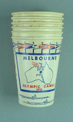Paper cups x 6 - 1956 Melbourne Olympic Games