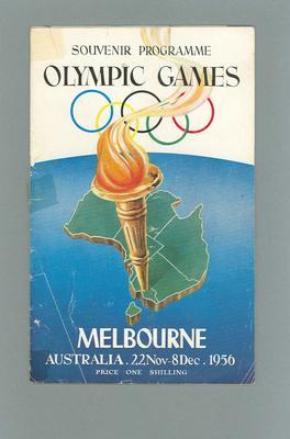 Souvenir Programme - 1956 Olympic Games, Melbourne 22 Nov - 8 Dec 1956; Documents and books; 2003.3896.16