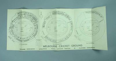 Map - Melbourne Cricket Ground map for 1956 Olympic Games Events