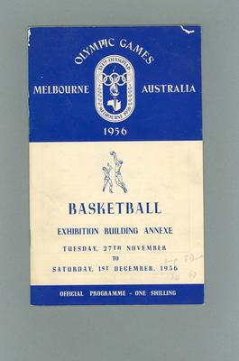 Programme - Basketball - 1956 Olympic Games, Exhibition Building Annex, 27 November - 1 December
