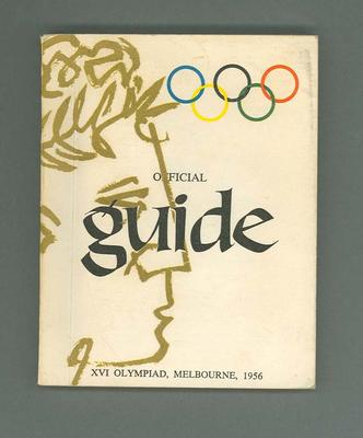 Booklet - Official Guide - XVIth Olympiad, Melbourne, 1956