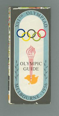 Map -  Olympic Guide for XVIth Olympiad, Melbourne 1956