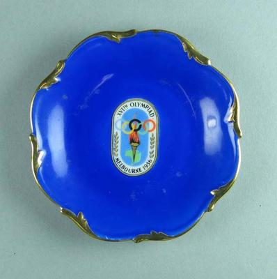 Ashtray  with 1956 Olympic Games logo