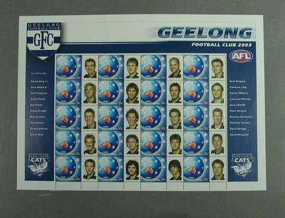Postage stamp sheet - AFL Footy Stamps 2003 - Geelong Football Club