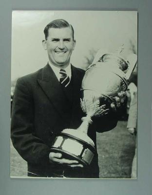 Copy of a photograph -  Douglas Bachli, Winner  British Amateur Golf 1954 Championship