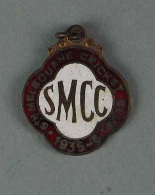 Membership medallion, South Melbourne Cricket Club - season 1935/36